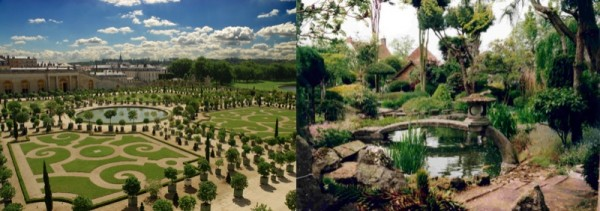 French vs. Japanese gardens